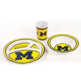 Michigan Wolverines | Kid's 3 Pc. Dish Set