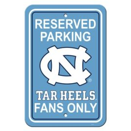 North Carolina Tar Heels | 12″ X 18″ Plastic Parking Sign