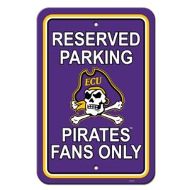 East Carolina Pirates | 12″ X 18″ Plastic Parking Sign