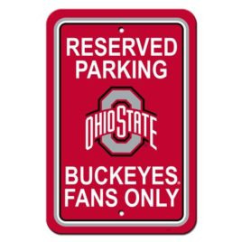 Ohio State Buckeyes | 12″ X 18″ Plastic Parking Sign