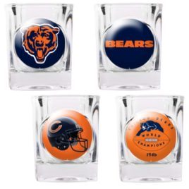 Chicago Bears | 4pc Collector's Shot Glass Set