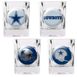 Dallas Cowboys | 4pc Collector's Shot Glass Set