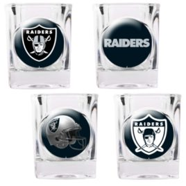 Oakland Raiders | 4pc Collector's Shot Glass Set