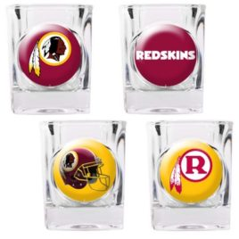 Washington Redskins | 4pc Collector's Shot Glass Set
