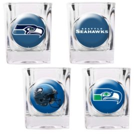 Seattle Seahawks | 4pc Collector's Shot Glass Set