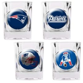New England Patriots | 4pc Collector's Shot Glass Set