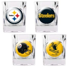 Pittsburgh Steelers | 4pc Collector's Shot Glass Set