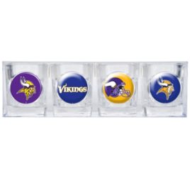 Minnesota Vikings | 4pc Collector's Shot Glass Set