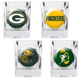 Green Bay Packers | 4pc Collector's Shot Glass Set