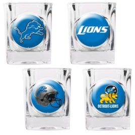 Detroit Lions | 4pc Collector's Shot Glass Set