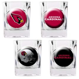 Arizona Cardinals | 4pc Collector's Shot Glass Set