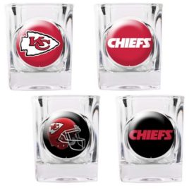 Kansas City Chiefs | 4pc Collector's Shot Glass Set