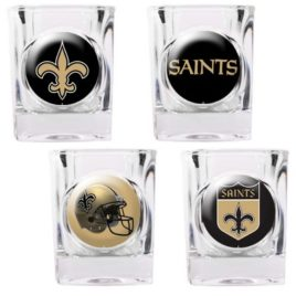 New Orleans Saints | 4pc Collector's Shot Glass Set