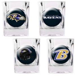 Baltimore Ravens | 4pc Collector's Shot Glass Set
