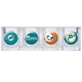 Miami Dolphins | 4pc Collector's Shot Glass Set