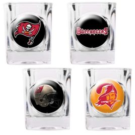 Tampa Bay Bucaneers | 4pc Collector's Shot Glass Set