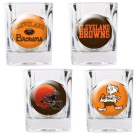Cleveland Browns | 4pc Collector's Shot Glass Set