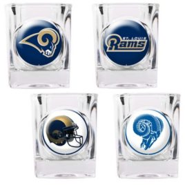 St. Louis Rams | 4pc Collector's Shot Glass Set