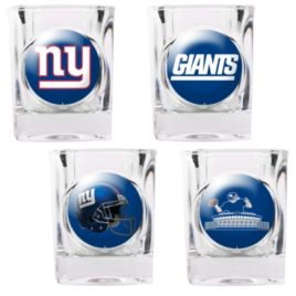 New York Giants | 4pc Collector's Shot Glass Set