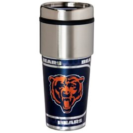 Chicago Bears | Stainless Steel Travel Tumbler Metallic Graphics 16 Oz.