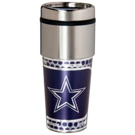 Dallas Cowboys | Stainless Steel Travel Tumbler Metallic Graphics 16 Oz.
