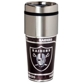 Oakland Raiders | Stainless Steel Travel Tumbler Metallic Graphics 16 Oz.