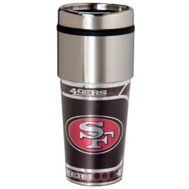 San Francisco 49er's | Stainless Steel Travel Tumbler Metallic Graphics 16 Oz.