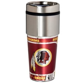 Washington Redskins | Stainless Steel Travel Tumbler Metallic Graphics 16 Oz.