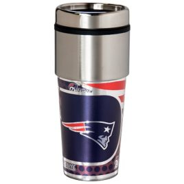 New England Patriots | Stainless Steel Travel Tumbler Metallic Graphics 16 Oz.
