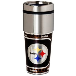 Pittsburgh Steelers | Stainless Steel Travel Tumbler Metallic Graphics 16 Oz.