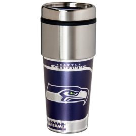 Seattle Seahawks | Stainless Steel Travel Tumbler Metallic Graphics 16 Oz.