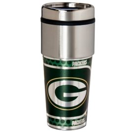Green Bay Packers | Stainless Steel Travel Tumbler Metallic Graphics 16 Oz.