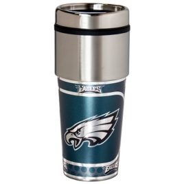 Philadelphia Eagles | Stainless Steel Travel Tumbler Metallic Graphics 16 Oz.