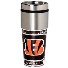 Cincinnati Bengals | Stainless Steel Travel Tumbler Metallic Graphics 16 Oz.