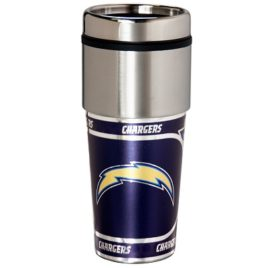 Los Angeles Chargers | Stainless Steel Travel Tumbler Metallic Graphics 16 Oz.