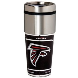 Atlanta Falcons | Stainless Steel Travel Tumbler Metallic Graphics 16 Oz.