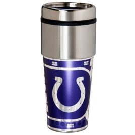 Indianapolis Colts | Stainless Steel Travel Tumbler Metallic Graphics 16 Oz.