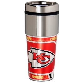 Kansas City Chiefs | Stainless Steel Travel Tumbler Metallic Graphics 16 Oz.