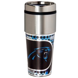 Carolina Panthers | Stainless Steel Travel Tumbler Metallic Graphics 16 Oz.