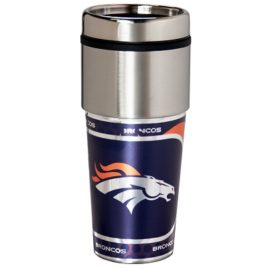 Denver Broncos | Stainless Steel Travel Tumbler Metallic Graphics 16 Oz.