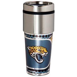 Jacksonville Jaguars | Stainless Steel Travel Tumbler Metallic Graphics 16 Oz.