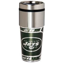 New York Jets | Stainless Steel Travel Tumbler Metallic Graphics 16 Oz.