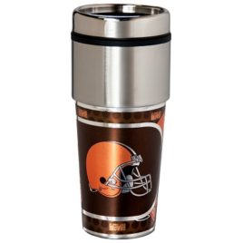 Cleveland Browns | Stainless Steel Travel Tumbler Metallic Graphics 16 Oz.