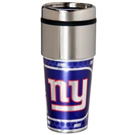 New York Giants | Stainless Steel Travel Tumbler Metallic Graphics 16 Oz.