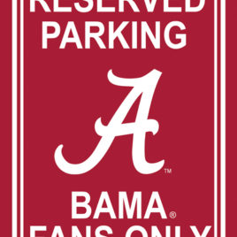 Alabama Crimson Tide | 12″ X 18″ Plastic Parking Sign