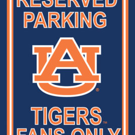 Auburn Tigers | 12″ X 18″ Plastic Parking Sign