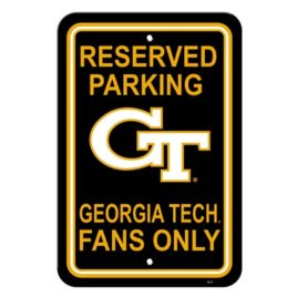 Georgia Tech Yellow Jackets | 12″ X 18″ Plastic Parking Sign
