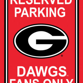 Georgia Bulldogs | 12″ X 18″ Plastic Parking Sign