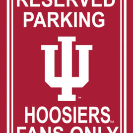 Indiana Hoosiers | 12″ X 18″ Plastic Parking Sign