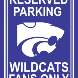 Kansas State Wildcats | 12″ X 18″ Plastic Parking Sign